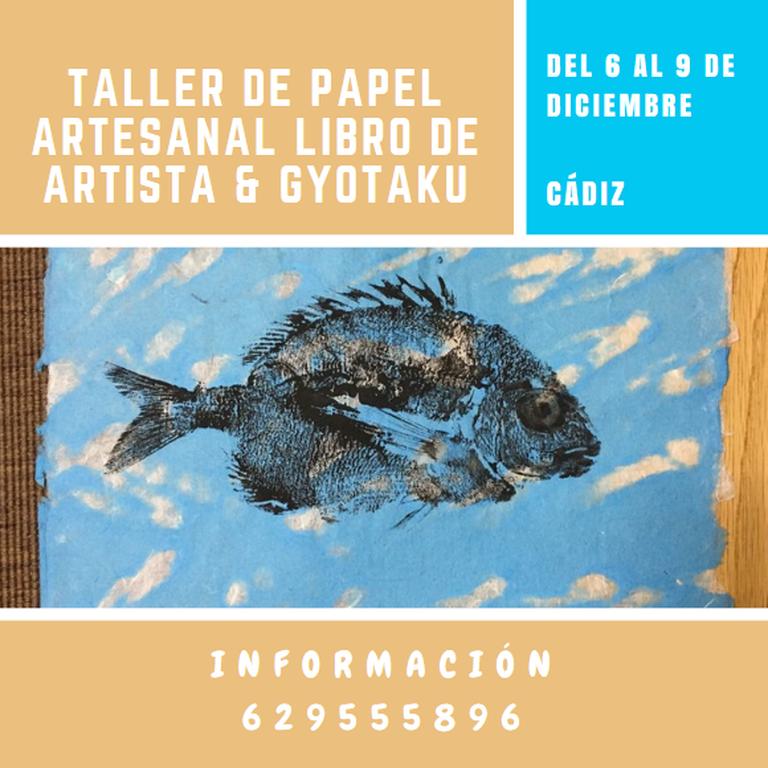 Taller de papel y Libro de artista & Gyotaku